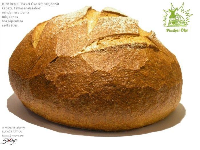 """A"" bio kenyér, kerek, bio, Piszke"