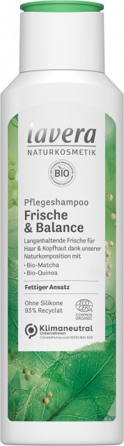 Hair Pro sampon, citrommal és mentával, zsíros hajra, Lavera (250ml) - balance