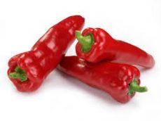 Kápia (Ramiro) paprika, piros, édes, hegyes, bio (ISR) (2-3 db / csom)