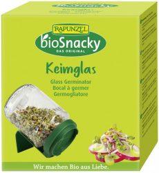 bioSnacky Csíráztató üvegedény fedéllel, környezetbarát, Rapunzel