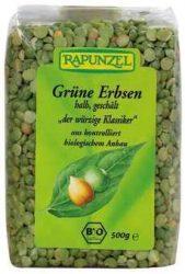 Zöldborsó, felezett, bio, Rapunzel (500 g)