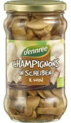 Szeletelt champion gomba üvegben, bio, Dennree (370ml)