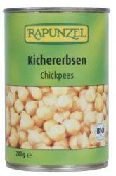 Csicseriborsó sós lében, bio, Rapunzel (400g)