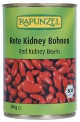 Vörös kidney bab konzerv, bio, Rapunzel (400g)