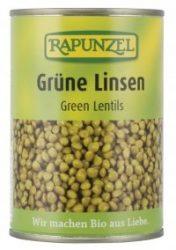 Zöld lencse sós lében, bio, Rapunzel (400g)