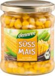 Csemege kukorica üvegben, bio, Dennree (330g) - 2024/12/31.