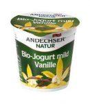 Gyümölcsjoghurt, vaníliás, bio, Andechser (150g)