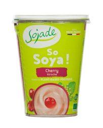 Szója joghurt Bifidussal, cseresznyés, bio, Sojade (400g)
