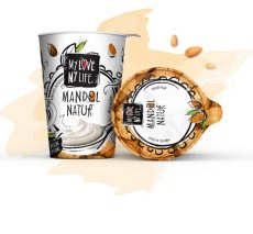 Mandula joghurt, cukrozatlan, bio, Mylove-Mylife (400g)