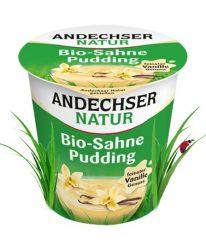 Vaníliás krémpuding, bio, Andechser (150g) - 2021/06/01.