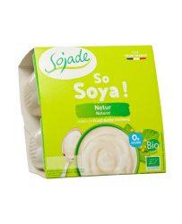 Szója joghurt Bifidussal, natúr, bio, Sojade (4*100g)