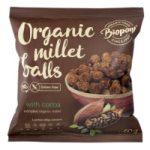 Extrudált kölesgolyó, kakaós, bio, Biopont (60 g)