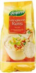 Hosszúszemű rizs, fehér, bio, Dennree (1000g)