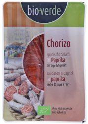 Chorizo paprikás szalámi, szeletelt, bio, Bio Verde (80g) - 2021/04/20.