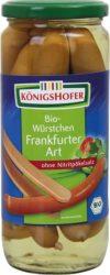 Frankfurti virsli üvegben, bio, Königshofer (580g) - 2022/06/30.