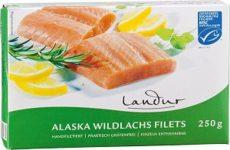 Alaszkai vadlazac filé, fagyasztott, Landur (250g) - 2022/05/06.
