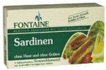 Szardínia bio napraforgó olajban, bőr nélküli, Fontaine (200g)