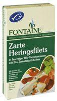 Heringfilé bio paradicsom szószban, Fontaine (200g)