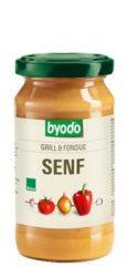 Grill és fondue mustár, bio, Byodo (200ml)