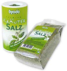 Fűszeres atlanti tengeri só utántöltő, bio, Byodo (500 g)