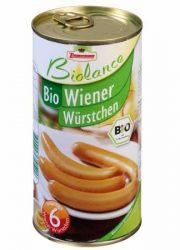 Bécsi virsli konzerv, bio, Zimmermann (565g)