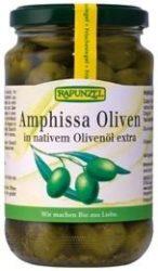 Amphissa zöld olivabogyó lében, magozott, bio, Rapunzel (315ml)