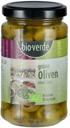 Zöld magozott olivabogyó felöntőlében, bio, Bio Verde (200g)