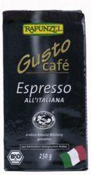 Gusto kávé, espresso, szemes, bio, Rapunzel (250g)