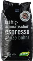 Espresso kávé, szemes, bio, Dennree (1000g) - 2022/07/27.