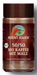 Instant kávé, fele-fele, Fair Trade, bio, Mount Hagen (100g) (babkávé malátával)