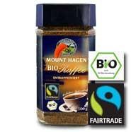 Instant kávé, koffeinmentes, Arabica, bio, Mount Hagen (100g)