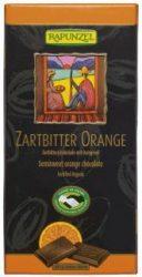 Csokoládé, félédes, narancsos, bio, CH, Rapunzel (100 g)