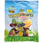 Gyümölcsös szívek, gumicukor (gelatin mentes), bio, Ökovital (100 g)