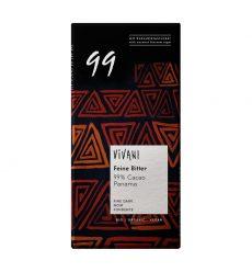 Keserű csokoládé 99% kakaó tartalommal, bio, Vivani (850g)