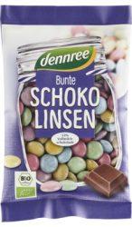 Csokoládés drazsé, tejcsokoládéval bevonva, bio, Dennree (100g)