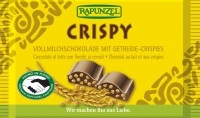 Cristallino tejcsokoládé ropogós gabonával, bio, Rapunzel (100g)