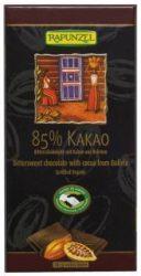 Keserű csokoládé, 85%- os kakaótartalommal, bio, Rapunzel (80g)