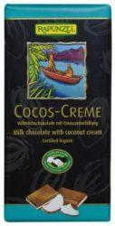Kókuszos krémcsokoládé, bio, CH, Rapunzel (100g)