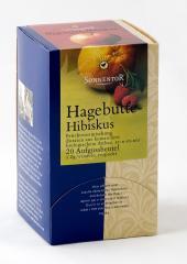 Csipkebogyó hibiszkusz tea, adagoló dobozos, bio, Sonnentor (54g)