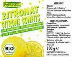 Kandírozott citromhéj kukoricasziruppal, bio, Rapunzel (100g)