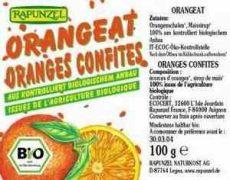 Kandírozott narancshéj kukoricasziruppal, bio, Rapunzel (100g)