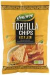 Tortilla chips, natúr, bio, Dennree (125g)
