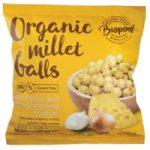 Extrudált kölesgolyó, sajtos-hagymás, bio, Biopont (75g)