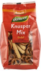 Party mix (Knusper mix) tönkölybúzából, Demeter, Dennree (200g)