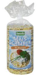 Kukoricaszelet tengeri sóval, gluténmentes, bio, Byodo (100g)