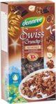 Svájci crunchy, csokis, bio, Dennree (375g)