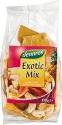 Egzotikus gyümölcsmix, bio, Dennree (100g)