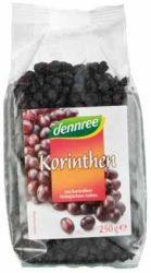 Korinthosi mazsola kék szőlőből, bio, Dennree (250g)