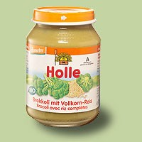 Bébiétel, brokkoli teljes rizzsel, Demeter, Holle (190 g)