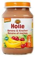 Bébiétel, banán cseresznyével, Demeter, Holle (190g)